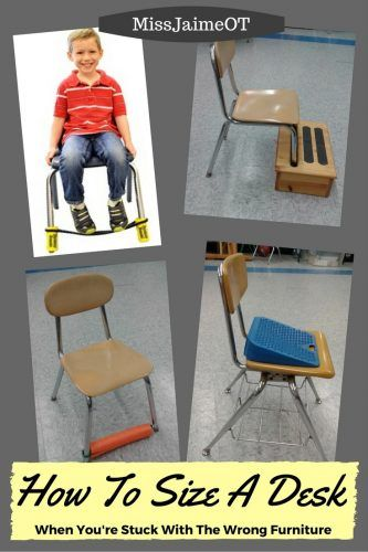 How to size a desk when you're stuck with the wrong furniture in your classroom.
