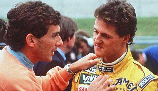 1992. Ayrton Senna and Michael Schumacher.