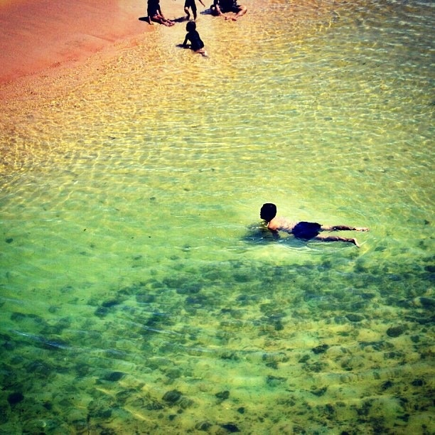 Swimming at Drini beach - Instagram