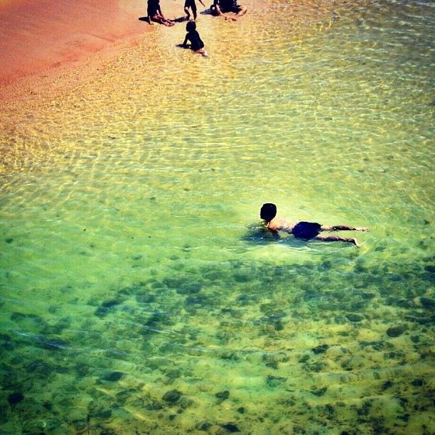 Swimming at Drini beach - Instagram
