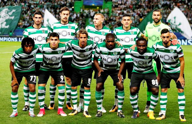 EQUIPOS DE FÚTBOL: SPORTING DE LISBOA contra Barcelona 27/09/2017 Liga de Campeones