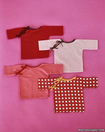 baby kimonos to sewSewing Baby, Kimonos Tops, Baby Kimonos, Free Pattern, Sewing Projects, Baby Shower Gift, Sewing Pattern, Martha Stewart, Baby Gift
