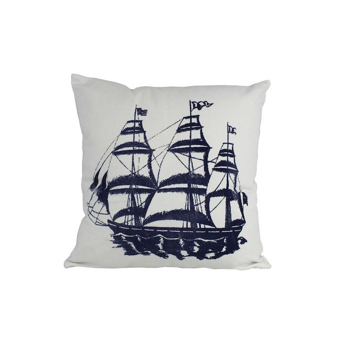 Handcrafted Nautical Decor Tall Ship Nautical Throw Pillow & Reviews | Wayfair
