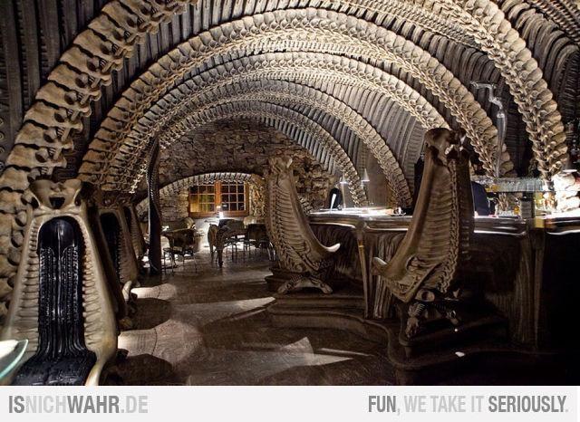Giger Alien Bar in Gruyere