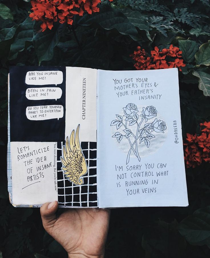 Insanity  // art journal, journal, journal inspiration, aesthetics, halsey lyrics, gasoline by halsey, fangirl, writers, teen artist, drawing, illustration, tumblr //