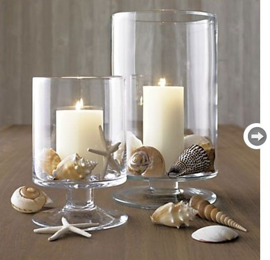 seashell decor | Seashells and candles by catrulz