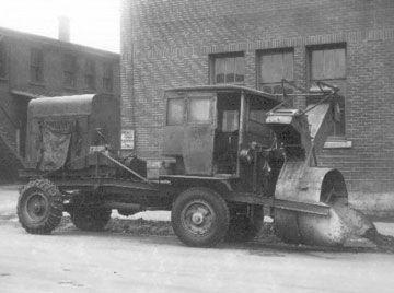 Montréal 1920 - Souffleuse à neige