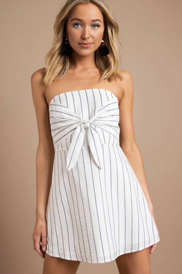 b90dcd09ec7a Looking for the Serena  Navy   White  Strapless Skater Dress