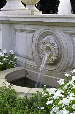 I think this stone fountain needs a lead spout - Lambert Landscape Company - Dallas, Texas