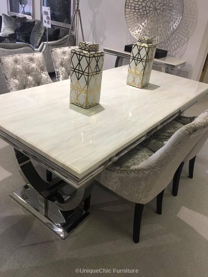 Set Dining Top Faux Evious Table Marble