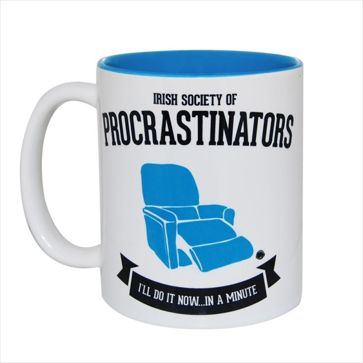 Irish Society of Procrastinators Gift Mug & Tin/Box by HairyBaby.com