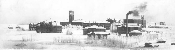 Washington State College (later WSU) in 1910 during the winter