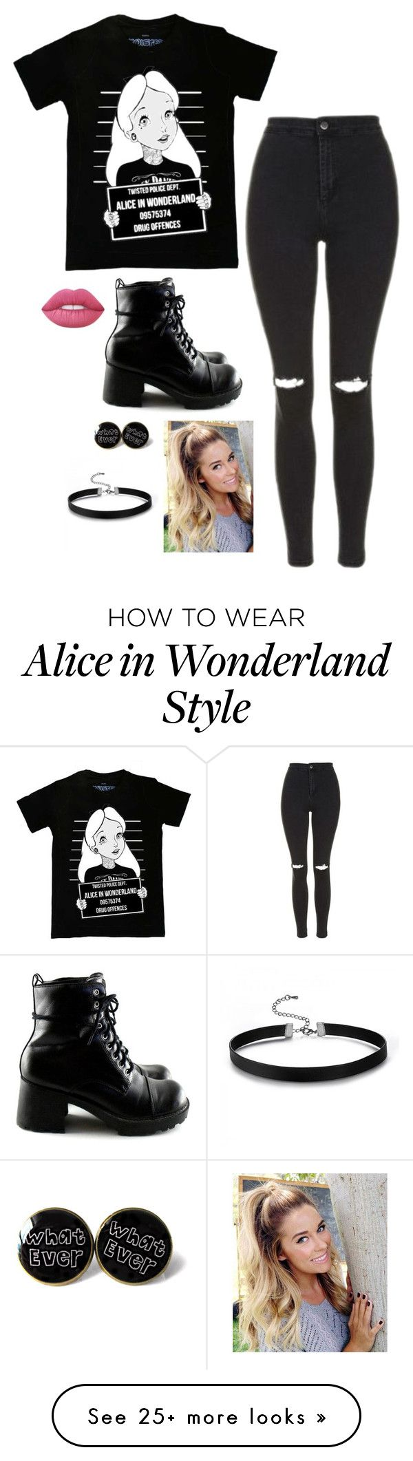 """""""Untitled #3438"""" by if-i-were-famous1 on Polyvore featuring Disney, Topshop and Lime Crime"""
