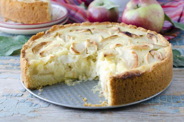 Tarta de pera y manzana