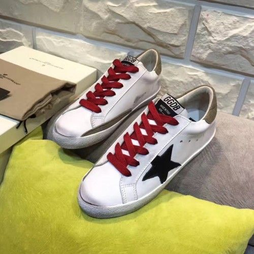GGDB Super Star Sneakers Femme - Acheter 2017 Golden Goose GGDB SuperStar Blanc Rouge Noir Femme Sneakers