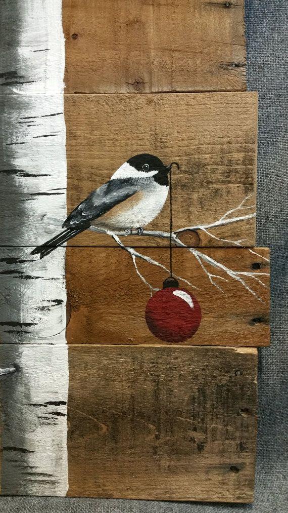 Ampoule rouge de Noël signe, bouleau blanc, Art de palette de bois naturel, peint blanc bouleau, décoration de Noël, upcycled, art mural, à la main en détresse Peinture acrylique originale sur des planches de palettes récupérés. Cette pièce unique est 24 de haut x 11 de large Cette pièce est parfaite pour une touche rustique personnalisée à votre décoration de Noël. Parfait pour cet espace de mur maigre ou tout simplement se pencher contre le mur. Toutes mes créations sont faites de…
