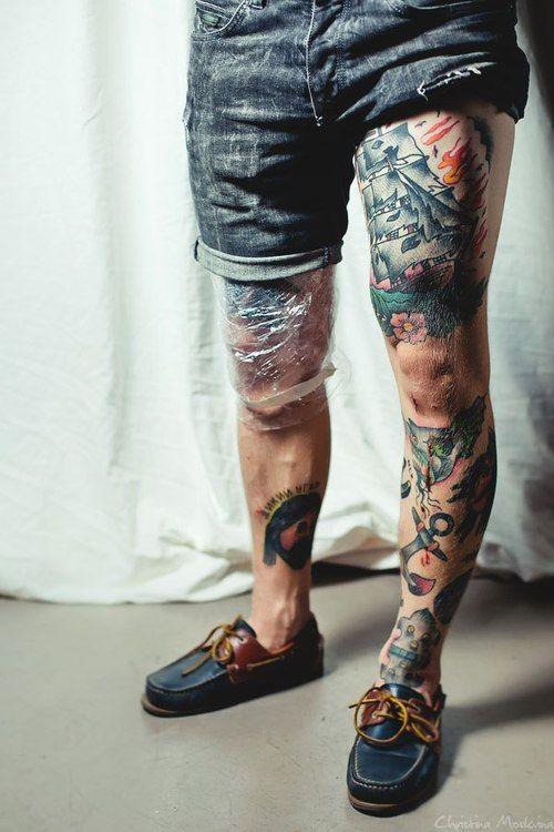 dailycuteboy.com #Tatts #Tattoos #Guy #Leg
