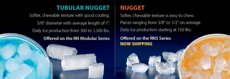 Tubular And Nugget Ice Soft Chewable Ice Texture Ok