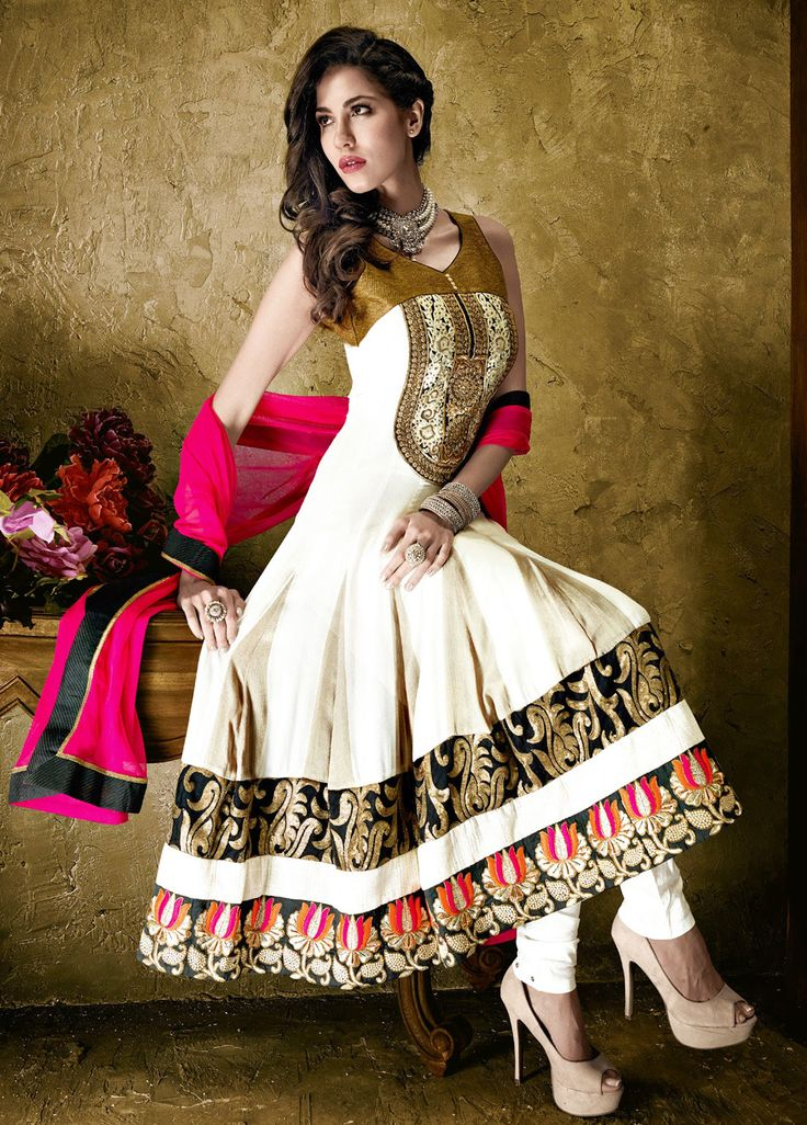 Classic White Anarkali Suit For A Special Day