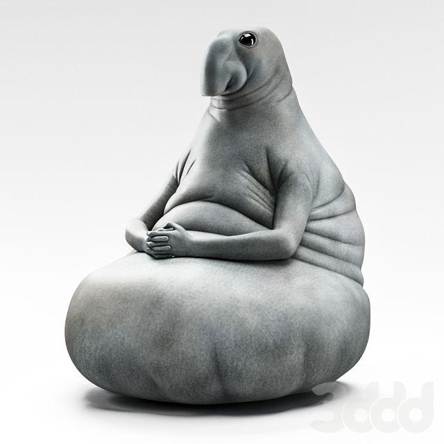 3d модели: Скульптуры - Homunculus loxodontus (ждун)