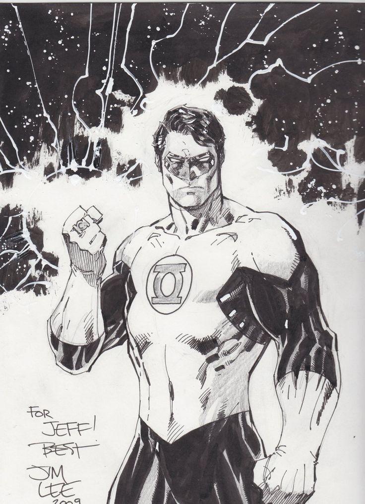 Green Lantern Sketch - Jim Lee