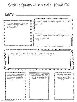 123 best Speech Activities images on Pinterest | Anniversary gifts ...