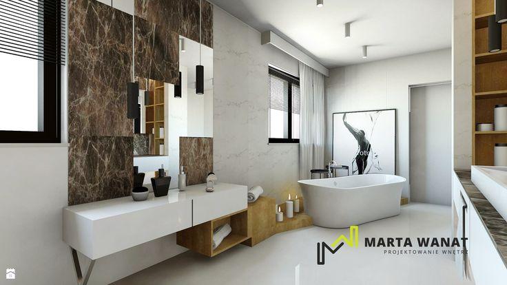 Salon kąpielowy - zdjęcie od Marta Wanat Projektowanie wnętrz - Łazienka - Styl Nowoczesny - Marta Wanat Projektowanie wnętrz