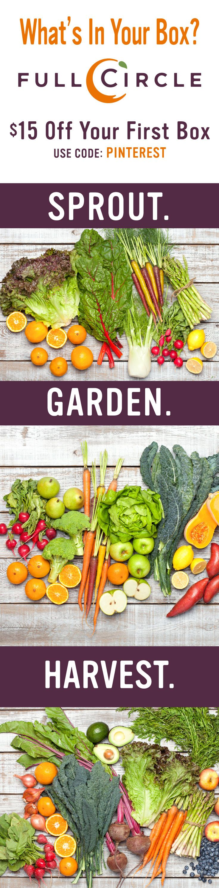 Full Circle provides Certified Organic fruits and vegetables right to your doorstep.