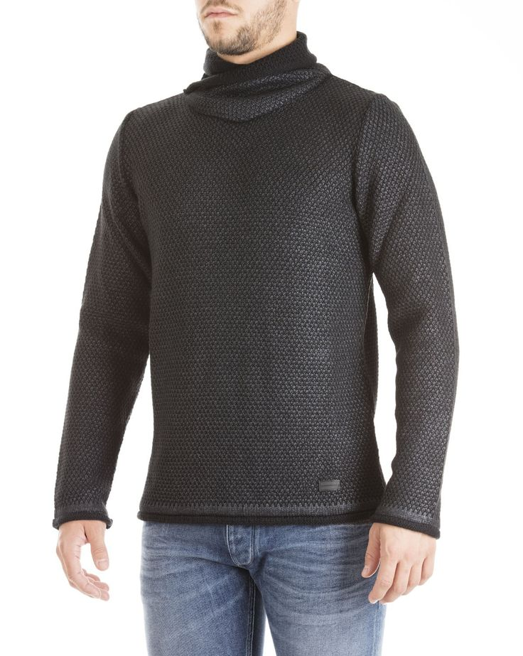 Hamaki-Ho fall/winter 2015 - grey wool turtleneck pullover