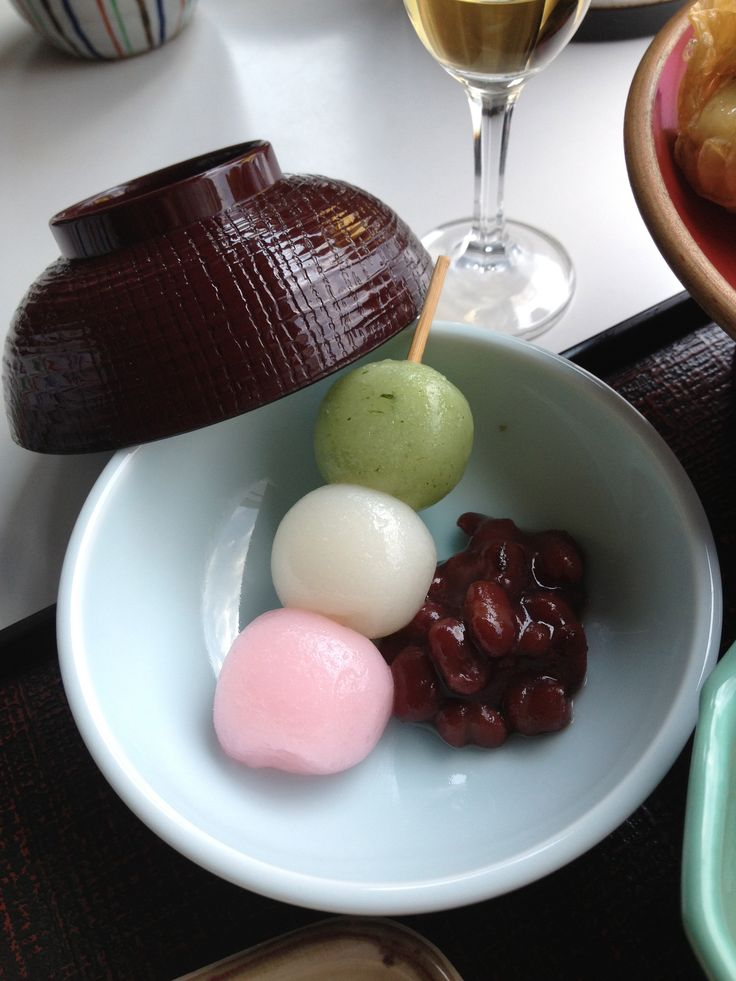 dango. Japanese dessert