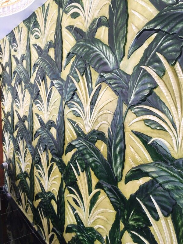 Yaprak desen duvar kaplama