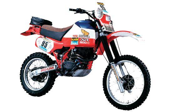 Honda XL 550 del rally Paris -argel- dakar de 1982 de Cyril Nevue.  xr 550 R 52cv 160kg .km/h