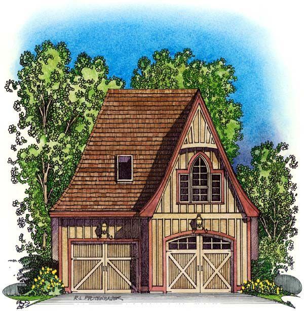 Picturesque Garage Apartment 43023pf: 28 Best Two-Car Garage Plans Images On Pinterest