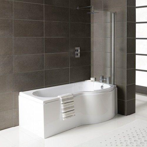 1675mm P Shaped Shower Bath Right Hand Premier Finish Zane P By