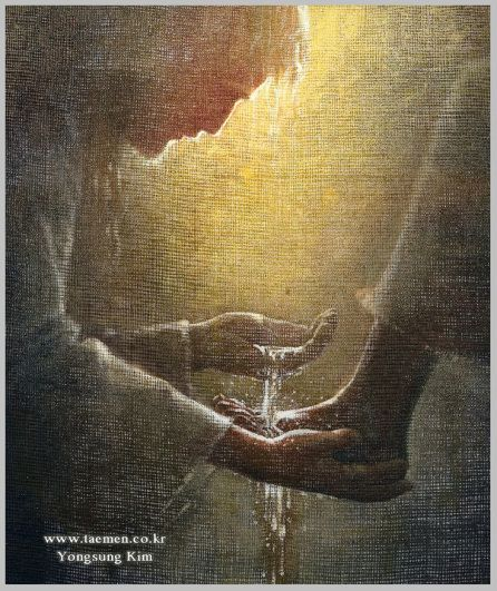 """spiritually powerful art """"This art work by Yongsung Kim is remarkable! I can see his faith transmitted onto canvas through his delicate brush strokes and selective views of Christ and His life amon..."""