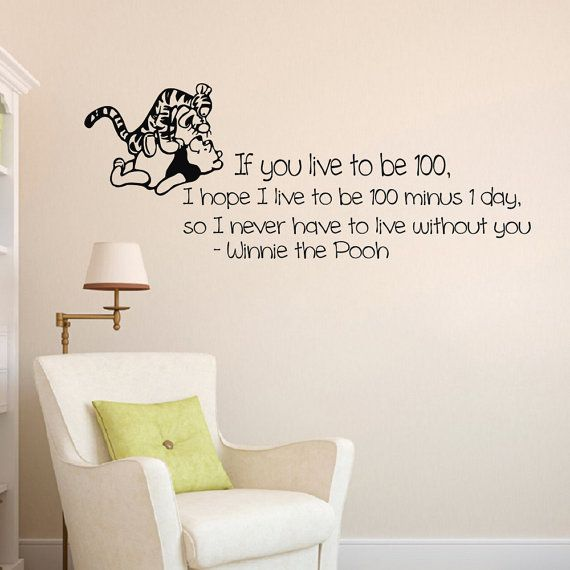 Wall Decals Quote Decal you live to be hundred  от WisdomDecals
