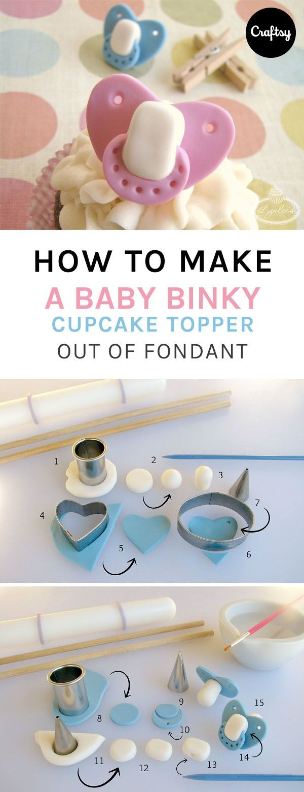 This baby binky fondant tutorial is the secret to a perfect baby shower cake. Learn how to make this fun and adorable baby shower cake topper.
