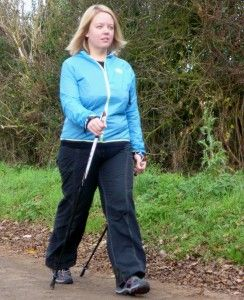 Sales Manager Kaye Redwood (now Kaye Lay) and her Nordic Walking weight loss journey! http://fatlossnews.com/?lose_weight_treadmill_desk