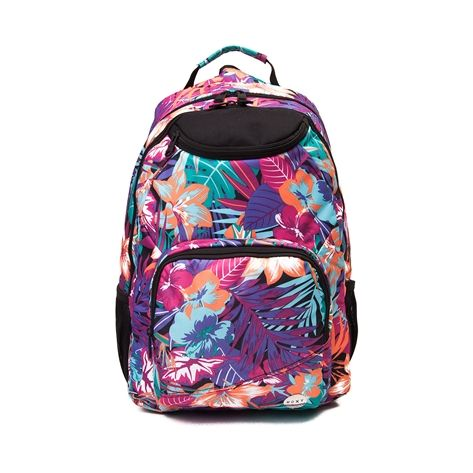 This season, hit the school halls with tropical trendiness and the new Shadow Swell Backpack from Roxy! The Shadow Swell Backpack rocks a tropical floral print with lots of organizational pockets for all of your school essentials. Available for shipment in June; Pre-order yours today!