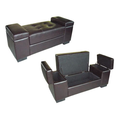 ORE Furniture Faux Leather Storage Bench @ Wayfair $130