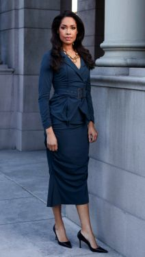 How To Power Dress: Lessons From TVs Fiercest Female Lawyers | The Suit Master: Gina Torres as Jessica Pearson on Suits