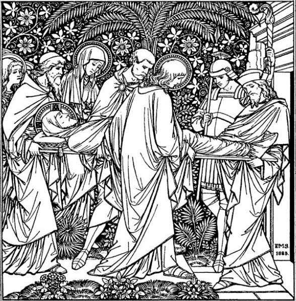 Holy Saturday Catholic Coloring Page