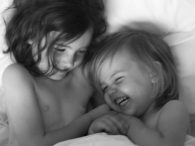 The sound of your children laughing together - the pinnacle of pick-me-ups