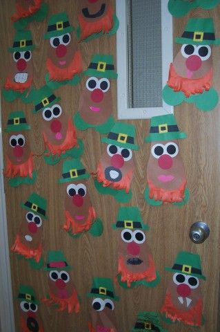 "St. Patrick's Day Potato Heads - could be used for a ""following directions"" activity"