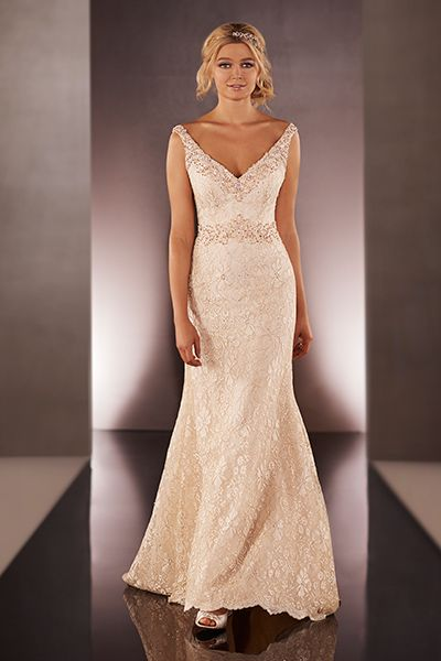 Superb  Romantic Dresses with Rose Gold Accents