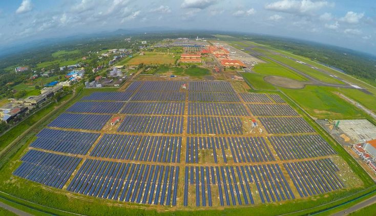 Solar-powered airport in India! That is all. #solarpower