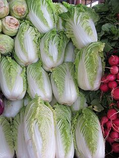 "Many of our CSA members are unfamiliar with Napa Cabbage so it's possible that you may have opened your CSA box and discovered Napa Cabbage fro the first time. Napa Cabbage is a relative of the familiar European cabbages and is popular in the cuisine of east Asia from where it originates. The name Napa is a Chinese word which translates roughly as ""leaf"". Here are 6 easy things to do with your Napa Cabbage: 1. Soup: Add a cup or two of shredded napa cabbage to virtually any soup. Napa is ..."