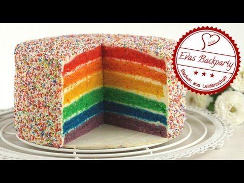 Regenbogentorte / Rainbow cake / saftige Torte mit Regenbogen / Backen m...