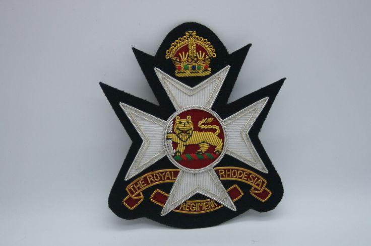 THE ROYAL RHODESIA REGIMENT RHODESIAN ARMY BULLION WIRE BLAZER JACKET BADGE Khalida Embroidery Works Cotact Us: khalidaeworks@gamil.com Ph:+92-315-7880152
