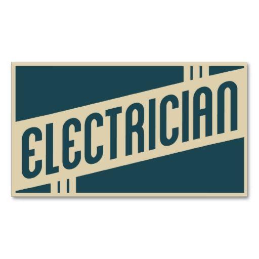 Retro electrician business card | Retro, Graphics and ...